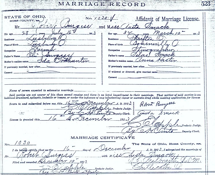 Greene co indiana marriage licence